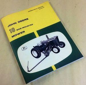 John Deere 10 Side Mounted Mower Operators Manual OM H91145 Hay Grass Bar Cutter