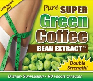 Pure Super Green Coffee Bean Extract Weight Loss Diet Pills 60 Veggie Caps