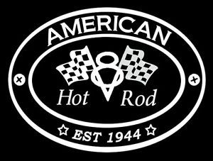 American Hot Rod GearHead Car V8 Hot Rod Car Logo on Front T Shirt