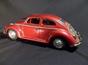 Vintage Tin Volkswagen Beetle Bug Battery Operated Bump and Go Toy Car