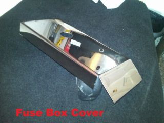 Corvette C5 Polished Stainless Fuse Box Cover 1997 2004 Chrome Engine LS1 LS6