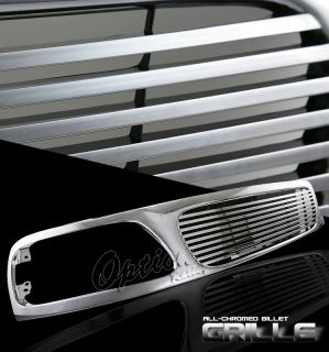 1997 1998 Ford F250 Light Duty Pickup Truck Billet Chrome Front Grille Grill