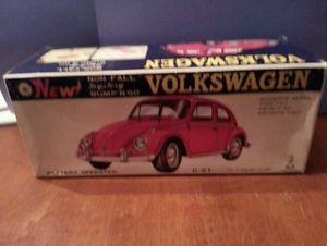 Vintage Volkswagen VW Bug Beetle Tin Battery Operated Car Japanese