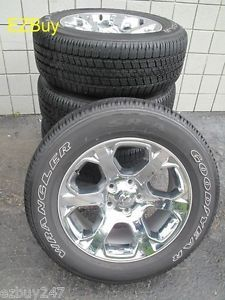 """20"""" Dodge RAM 1500 2013 14 Factory Chrome Clad Wheels with Goodyear Tires 2454"""