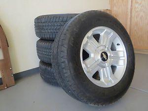 "2013 Chevy Z71 Silverado Tahoe Suburban Avalanche 18"" Wheels Rims Goodyear Tires"
