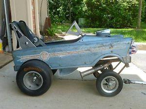 Gasser Pedal Car Wagon Hot Rod Stroller Rat Rod Chevy