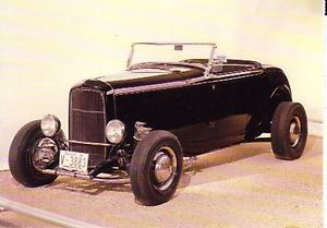 1932 Ford Roadster Highboy Hot Rod Postcard Lot of 2 Must See Rat Rod