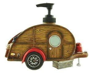 Teardrop camper Trailer Soap Dispenser Little Guy Novel