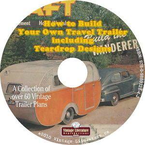 How to Build Vintage camper Trailer Teardrop Plans CD