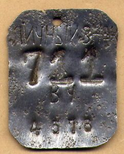 WWII Soviet Red Army Dog Tag ID Tag Original WW2 Top RARE Type Steel