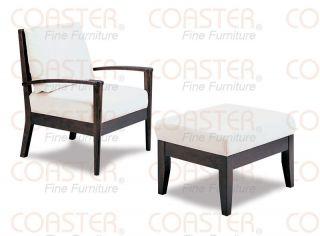 ... White Microfiber Accent Chair W Ottoman Free S H ...