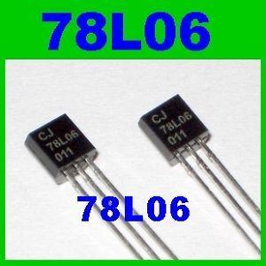 50pcs 78L06 100mA 6V Voltage Regulator Positive