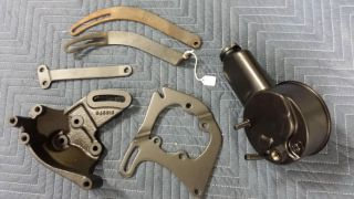64 Pontiac GTO Power Steering Pump Alternator Bracket Kit Rebuilt