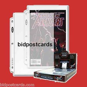 50 1 Pocket Archival Comic Book Display Pages for 3 Ring Binder Album