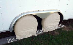 "2 Wheel Tire Covers Sprint Drag Car Trailer Truck RV 27"" 28"" 29"" Diameter Tires"