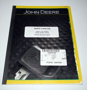 John Deere Scotts S2554 GT2554 Lawn Garden Tractor Parts Catalog Manual Book JD