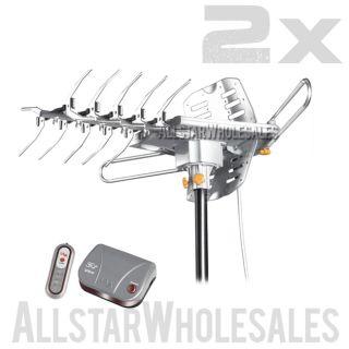 2X Wholesale Lava HD 2605 Ultra w G3 Control Box Indoor Outdoor HDTV Antenna