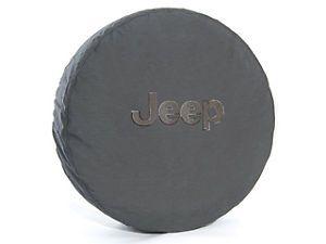 Jeep Wrangler Spare Tire Cover P255 75R17 LT255 75R17 P255 70R18 Black Jeep Logo