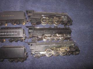 3 Vintage Mantua Die Cast HO Scale Steam Locomotives Engines Tenders