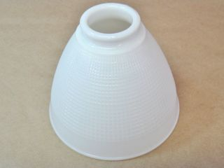 Vintage Corning Milk Glass Waffle Design Lamp Diffuser Torchiere Shade Sconce