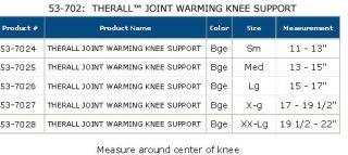 Therall Joint Warming Knee Support Arthritis Tendonitis