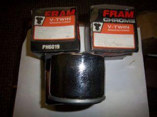 7 Harley Ironhead Sportster Shovelhead 3 Chrome Fram Spin on Oil Filters