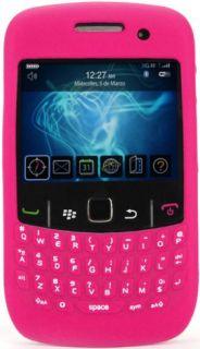 Funda Silicona Con Teclado Para Blackberry Curve 9300 Rosa Fucsia BB Carcasa