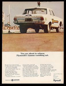 1965 Plymouth Bill Jenkins 666 Black Arrow NHRA 426 Hemi Drag Race Car Photo Ad