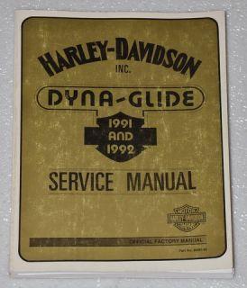 1991 1992 Harley Davidson Dyna Glide Daytona Custom Shop Service Repair Manual