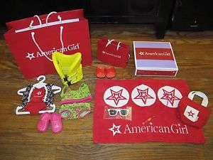 American Girl Doll Beach Set Swim Suit Towel Sunglasses Shoes Life Jacket