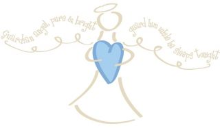 New Guardian Angel Prayer Wall Decals Baby Boys Nursery Stickers Mural