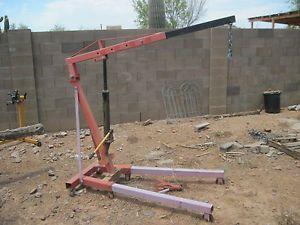 4000 lbs Engine Cherry Picker Hoist Shop Crane 2 Ton Detachable Legs One Arm