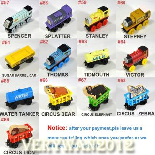 Wooden Handcrafted Toys Train Thomas His Friends Tank Engine Carriages Toys
