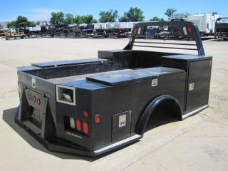 Used cm TM Model Truck Bed with Tool Boxes Flatbed Service Body Utility