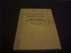Restricted Technical Manual War Department Continental Engine W670 9A