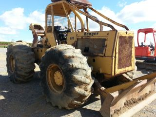 Clark Ranger 666 Skidder Diesel Tractor w Winch Cable Forestry Equipment Log