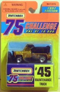1997 Matchbox Challenge 45 Maintenance Truck Snow Plow