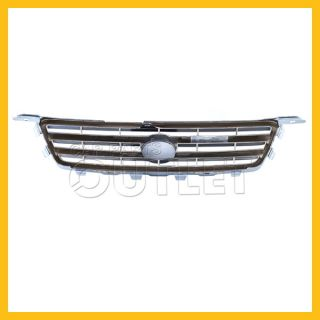 2000 2001 Toyota Camry Grille Chrome Frame TO1200225 ptd Gray Silver Inner Grids