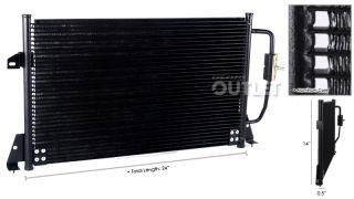 93 97 Nissan Pathfinder Hardbody Pickup AC Condenser Assembly New Replacement