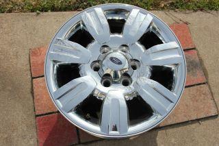 "2009 2012 Ford F150 18"" Factory Chrome Clad Alloy Wheel Rim Cosmetic Damage"