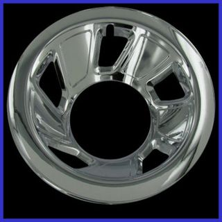 """4 PC Set 92 96 Ford Bronco F150 Truck 15"""" Chrome Wheel Skin Hubcap Covers"""