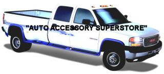 01 06 Chevy Silverado Dually Full Flared Running Boards with Fender Flares