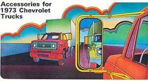 1973 Chevrolet Pickup Truck Accessories Sales Brochure Silverado