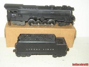 Lionel 671 Atomic Steam Turbine Loco Engine Whistle Tender 6 8 6