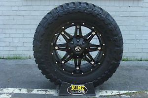 "18"" Fuel Off Road Hostage Black Toyo MT 35x12 50R18 35"" Mud Tires Rimzoneonline"