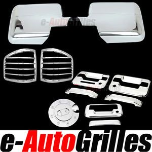 97-03 Ford F-150 Mirrors 2 Door Handles Tailgate Taillights Gas KH Chrome Cover