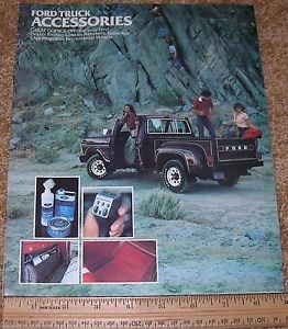1979 Ford Truck Bronco Accessories Dealer Sales Brochure Catalog 0 99 SHIP
