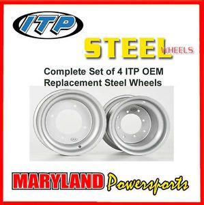 Set of 4 ITP Steel Replacement Wheels Rims Kawasaki KFX 450 450R KFX450R