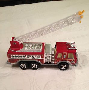 Nylint Metal Muscle Aerial Ladder Fire Engine Snorkel Pumper Truck 6""