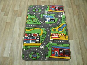 Non Slip Kid Road Mat Play Mats Easy Wash Rug Home CLEARANCE Sale Car Rug